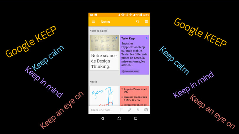 GOOGLEKEEP UN OUTIL UTILISÉ PAR TIPS N' LEARN